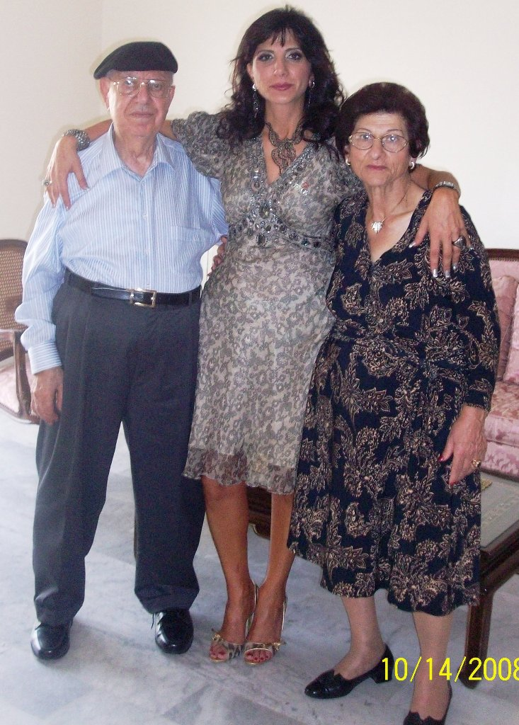 With my Parents Elia & Georgette in Lebanon
